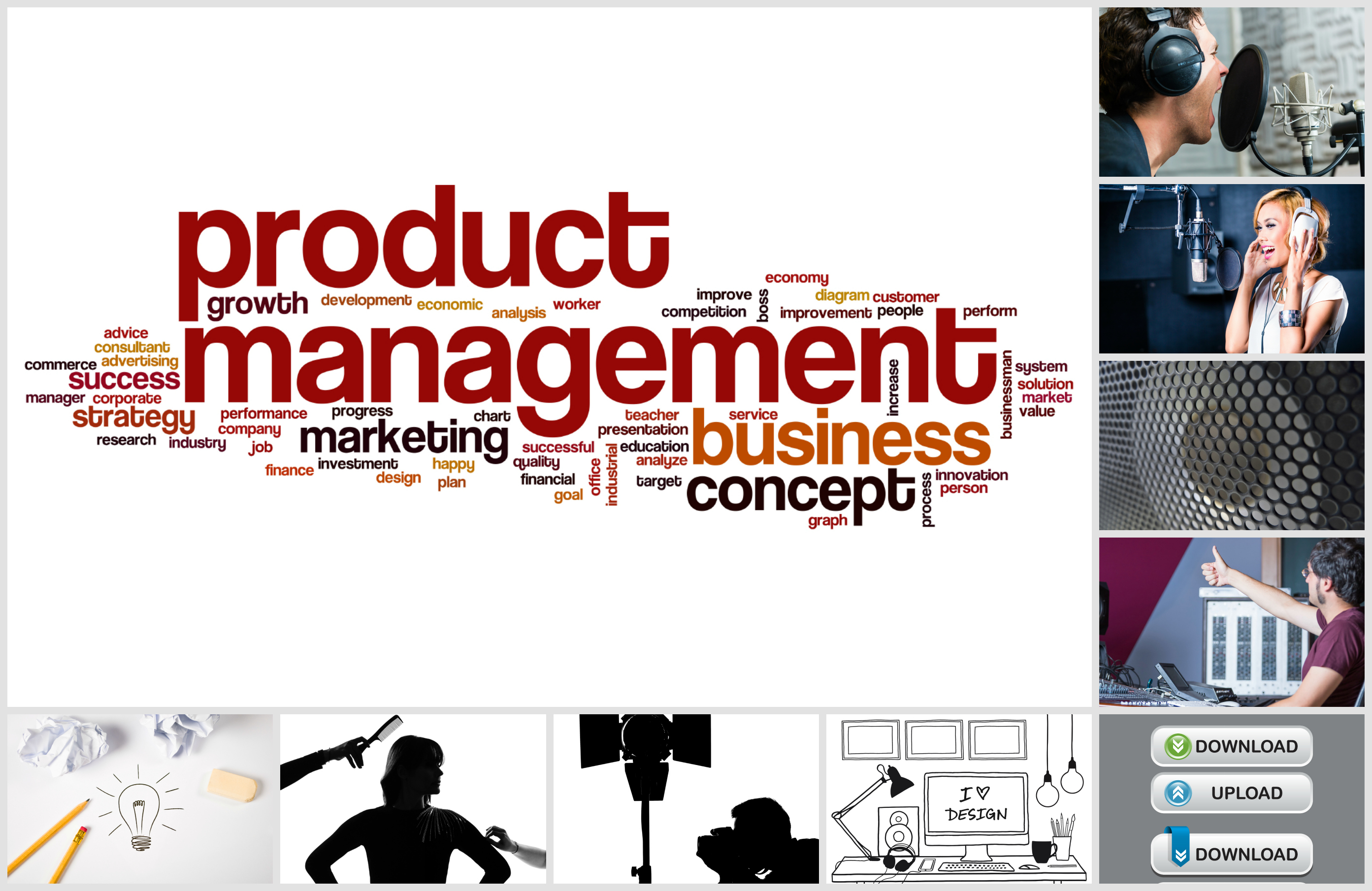 Product Management Collage